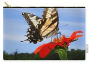 Butterfly On Red Daisy Carry-all Pouch