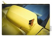Butterfly On Sports Car Mirror Carry-all Pouch by Elena Elisseeva