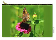 Butterfly On Zinnia Flower 2 Carry-all Pouch