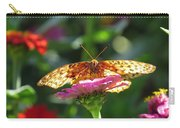 Fritillary Butterfly On Zinnia Carry-all Pouch