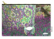 Butterfly Park Garden Painted Green Theme Carry-all Pouch