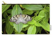 Butterfly Perching On Leaf In A Garden Carry-all Pouch