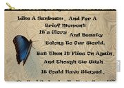 Butterfly Poem Carry-all Pouch