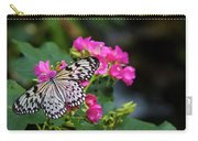 Butterfly Pollinating Flower Carry-all Pouch