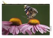 Butterfly Red Admiral On Echinacea Carry-all Pouch