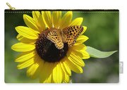 Butterfly Sunflower Carry-all Pouch