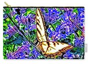 Butterfly With Purple Flowers 2 Carry-all Pouch