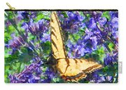 Butterfly With Purple Flowers 3 Carry-all Pouch