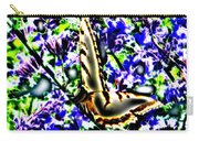 Butterfly With Purple Flowers 4 Carry-all Pouch
