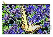 Butterfly With Purple Flowers Carry-all Pouch