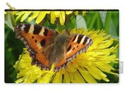 Butterfly Yellow Carry-all Pouch