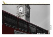 Bw Big Ben And Red London Bus Carry-all Pouch