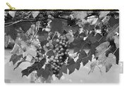 Bw Hanging Thompson Grapes Sultana Poster Look Carry-all Pouch