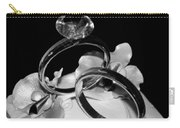 Bw Wedding Ring Cake Black Carry-all Pouch