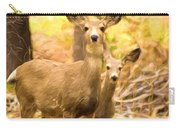 By Mama's Side - Photo Manipulation - Mule Deer - Casper Mountain - Casper Wyoming Carry-all Pouch