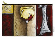 By The Fireside Original Madart Painting Carry-all Pouch
