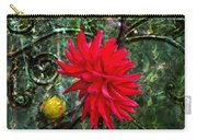 By The Garden Gate - Red Dahlia Carry-all Pouch