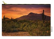 By The Light Of The Sunset Carry-all Pouch