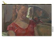 By The Old Mirror, 2009 Oil On Canvas Carry-all Pouch