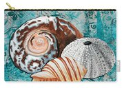 By The Seaside Original Coastal Painting Colorful Urchin And Seashell Art By Megan Duncanson Carry-all Pouch