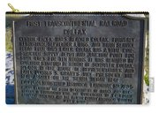Ca-780-5 First Transcontinental Railroad - Colfax Carry-all Pouch