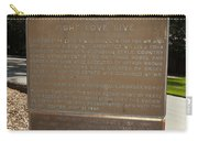 Ca-908 Filoli Fight-love-live Historical Marker Carry-all Pouch