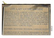 Ca-909 Our Lady Of The Wayside Carry-all Pouch