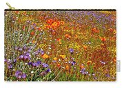 Ca Poppies And Goldfields And Lacy Phacelia And Sage In Antelope Valley Ca Poppy Reserve-california Carry-all Pouch
