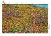 Ca Poppies And Goldfields And Lacy Phacelia In  Antelope Valley Ca Poppy Reserve-california  Carry-all Pouch