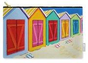 Cabana Row - Colorful Beach Cabanas Carry-all Pouch