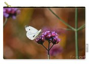 Cabbage White Butterfly In Fall Carry-all Pouch