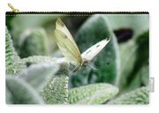 Cabbage White Butterfly In Flight Carry-all Pouch