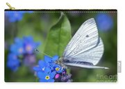 Cabbage White Butterfly On Forget-me-not Carry-all Pouch