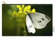 Cabbage White Butterfly On Yellow Flower Carry-all Pouch