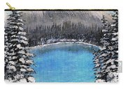 Cabin By The Lake - Winter Carry-all Pouch by Barbara Griffin
