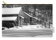 Cabin Fever In Black And White Carry-all Pouch
