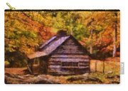 Cabin In Autumn Carry-all Pouch