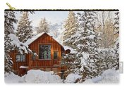 Cabin In Snow Carry-all Pouch