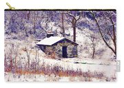 Cabin In The Snow Carry-all Pouch