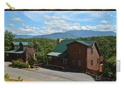 Cabins In The Smokies Carry-all Pouch by Frozen in Time Fine Art Photography