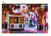 Cable Car At The Powell Street Turnaround Carry-all Pouch