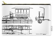 Cable Car Patent, 1873 Carry-all Pouch