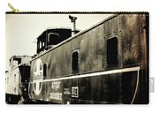 Caboose - Bw - Vintage Carry-all Pouch