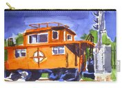 Caboose With Silver Signal Carry-all Pouch