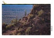 Cacti Covered Rock At Tucson Mountains Carry-all Pouch