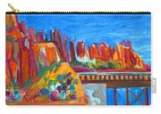 Cacti With Red Rocks And Rr Trestle Carry-all Pouch
