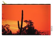 Cactus Against A Blazing Sunset Carry-all Pouch
