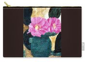 Cactus And The Pink Flower Carry-all Pouch