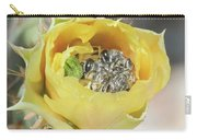 Cactus Flower With Ball Of Bees Carry-all Pouch