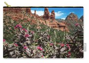 Cactus Flowers And Red Rocks Carry-all Pouch